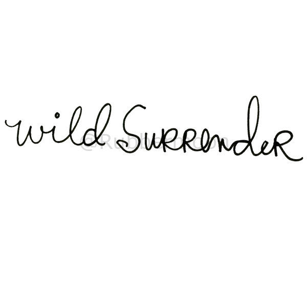 Mindy Lacefield | ML106F - Wild Surrender - Rubber Art Stamp