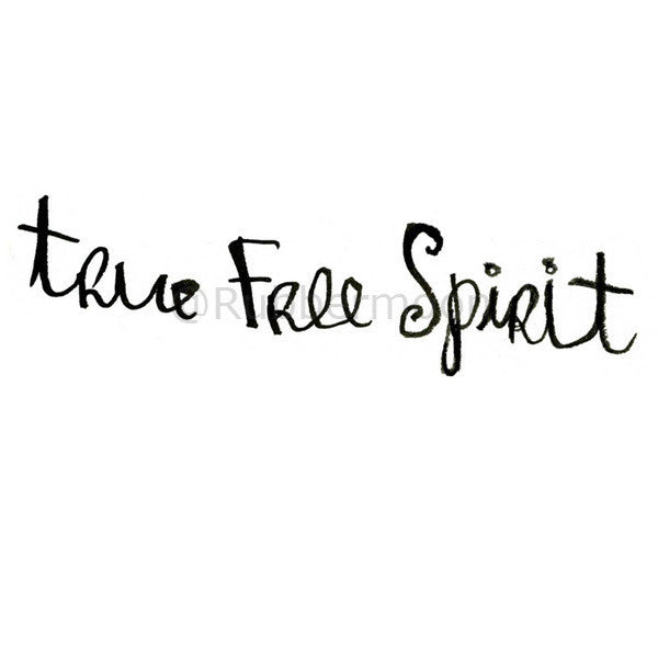"Mindy Lacefield - ""True Free Spirit"" - ML204G - Rubber Art Stamp"