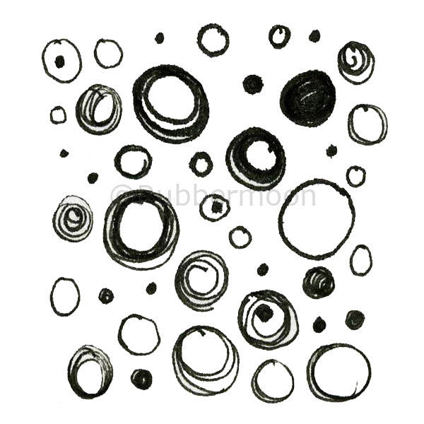 Mindy Lacefiled | ML205F - Dots & Circles - Rubber Art Stamp