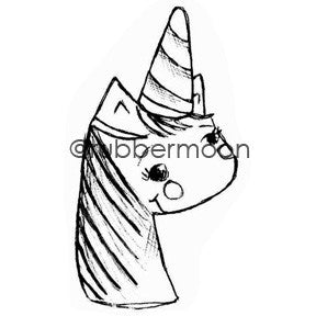 Mindy Lacefield | ML5609G - Joyful Magical Unicorn - Rubber Art Stamp