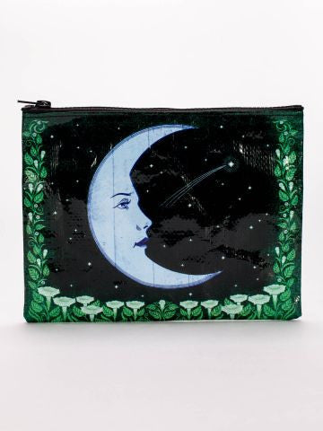 Blue Q - Moon Zipper Pouch