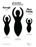 Kae Pea | KPMG5 - Moon Goddess Set - Rubber Art Stamps
