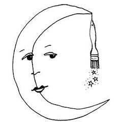 Kae Pea | LTDE02 - Limited Edition Moon Maker - Rubber Art Stamp