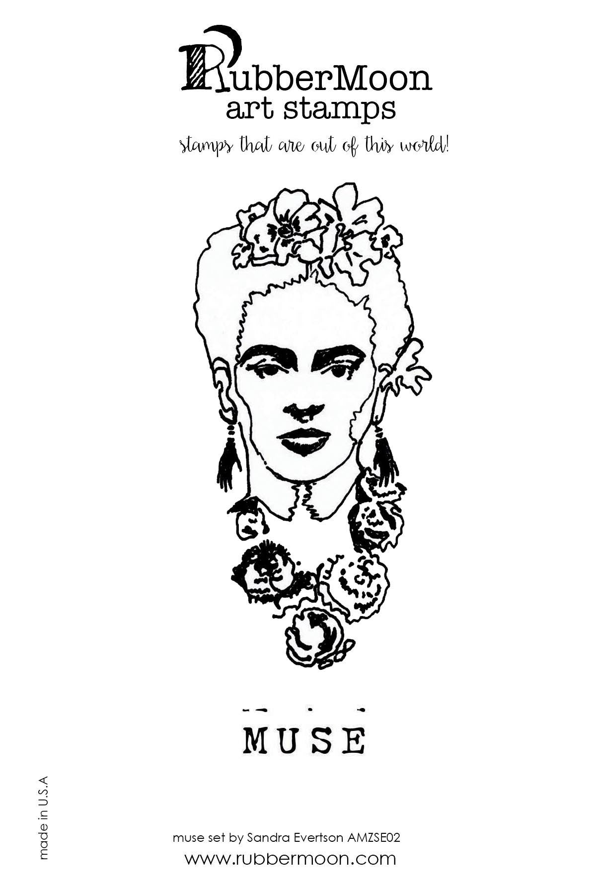Sandra Evertson | SEFM02 | Frida Muse Stamp Set