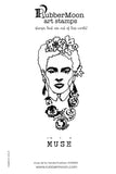 Sandra Evertson | Frida Muse Stamp Set | Rubber Art Stamps (Set of 2)