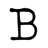 "Blue Luna Press | BLPB112F - My Type XL Letter ""B"" - Rubber Art Stamp"