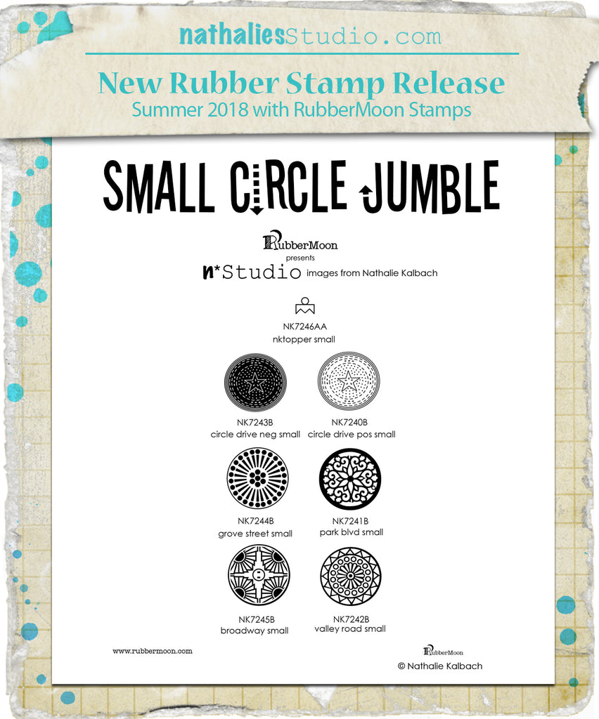 Nathalie Kalbach | NKSCJ7 - Small Circle Jumble Set - Rubber Art Stamps