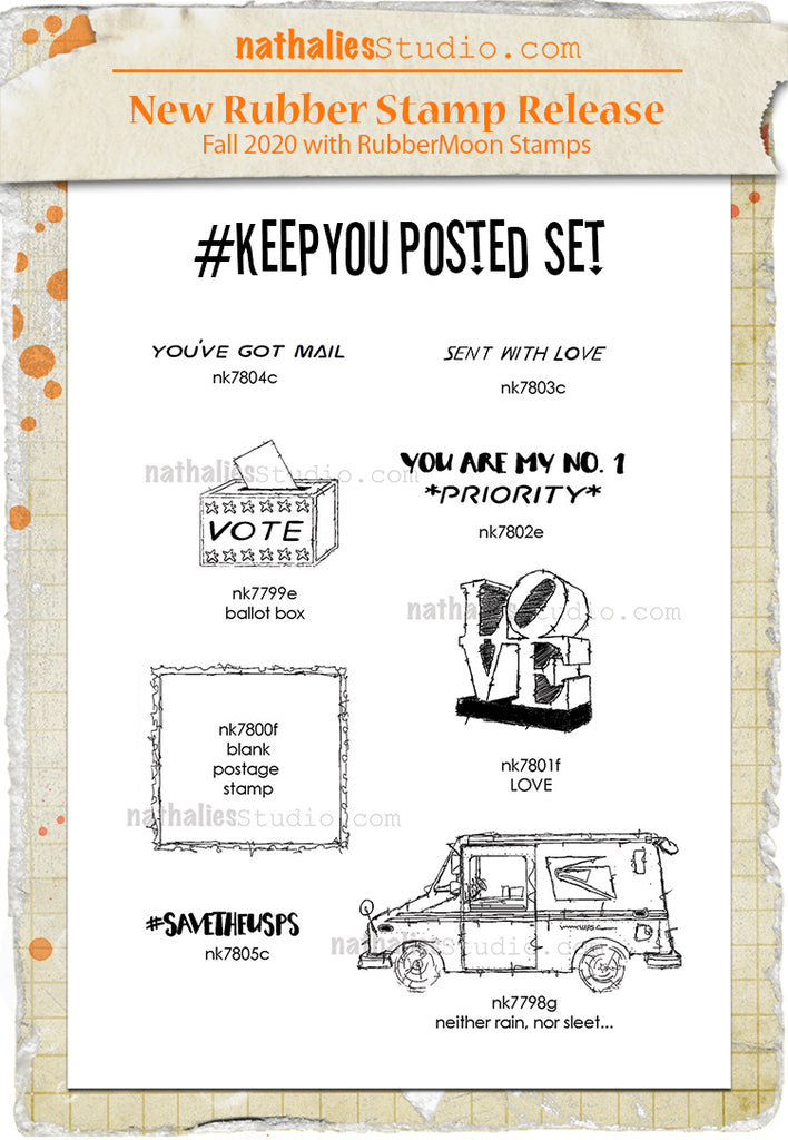 Nathalie Kalbach | NKKYP08 | Keep You Posted Stamp Set