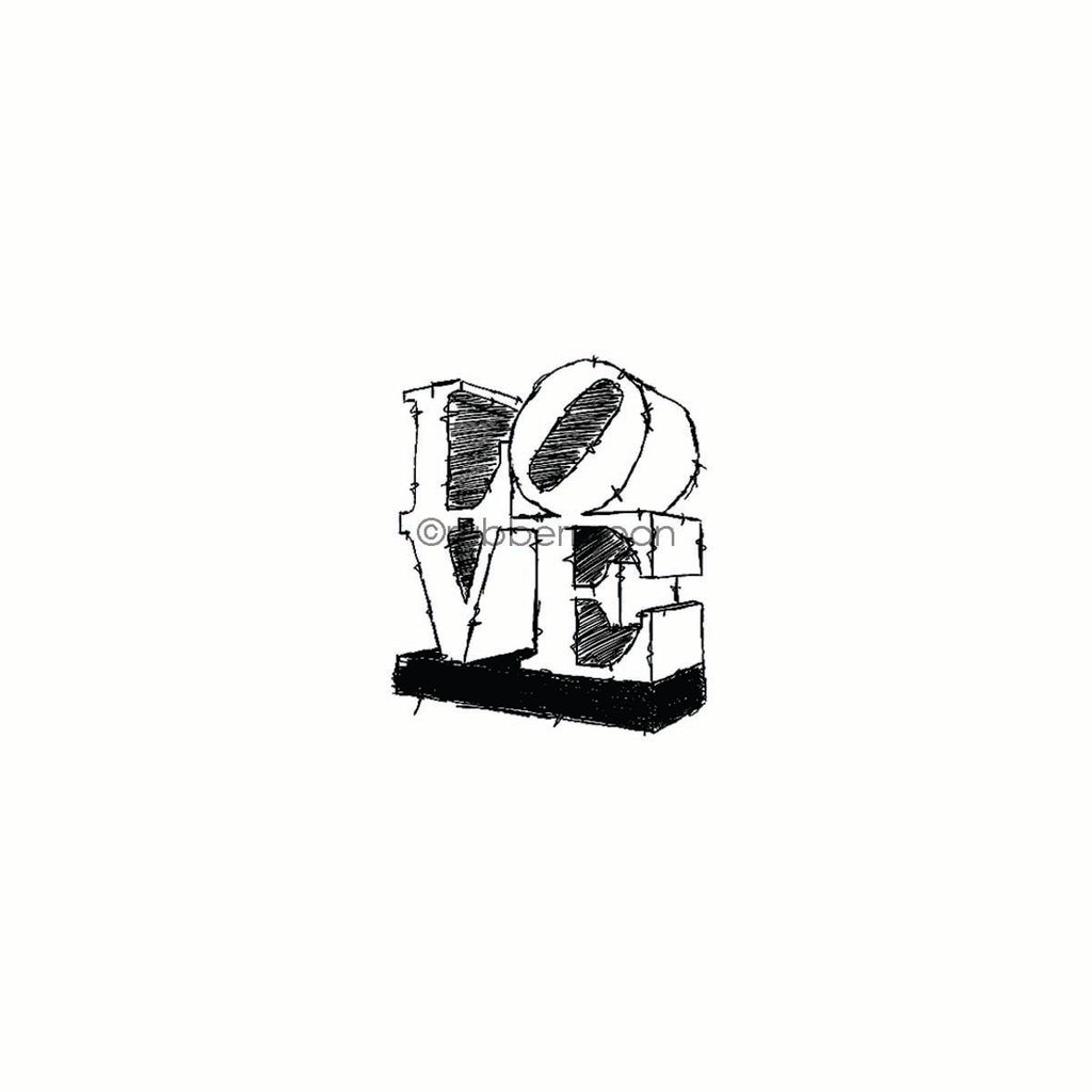 Nathalie Kalbach | NK7801F - LOVE - Rubber Art Stamp