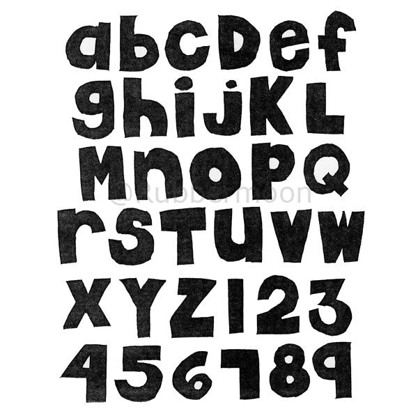 rm149 - chunky kids alphabet & numbers (unmounted full sheet)