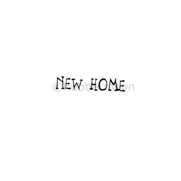 New Home - RM2325A - Rubber Art Stamp