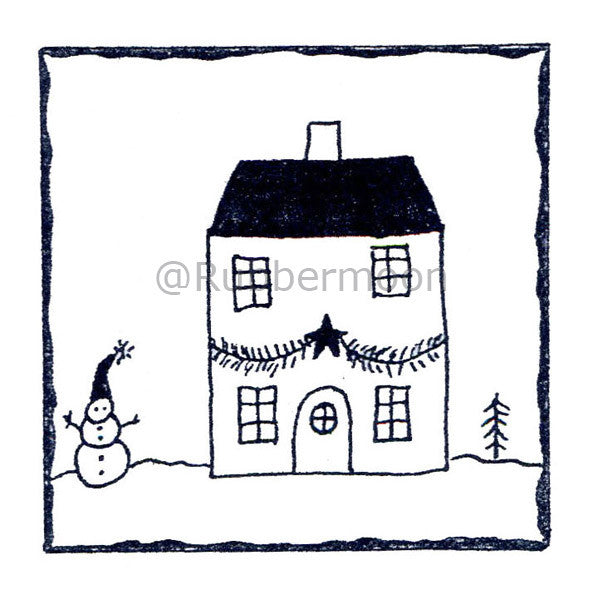 Debra Valoff | RM2707H - Happy Holiday Home - Rubber Art Stamp
