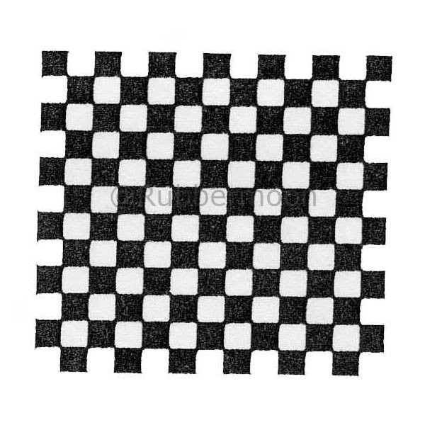 Checkerboard - RM2770G - Rubber Art Stamp