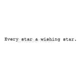Every Star a Wishing Star - MK5388E - Rubber Art Stamp