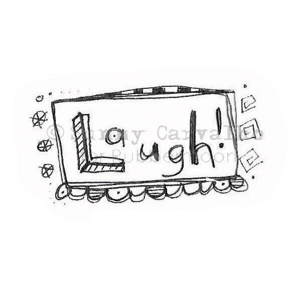 Sunny Carvalho | SC102D - Laugh! - Rubber Art Stamp