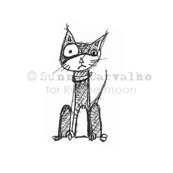 Cat's Eye - SC104E - Rubber Art Stamp