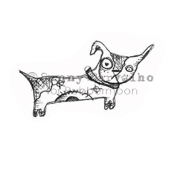 Sunny Carvalho | SC105E - Bow Wow - Rubber Art Stamp