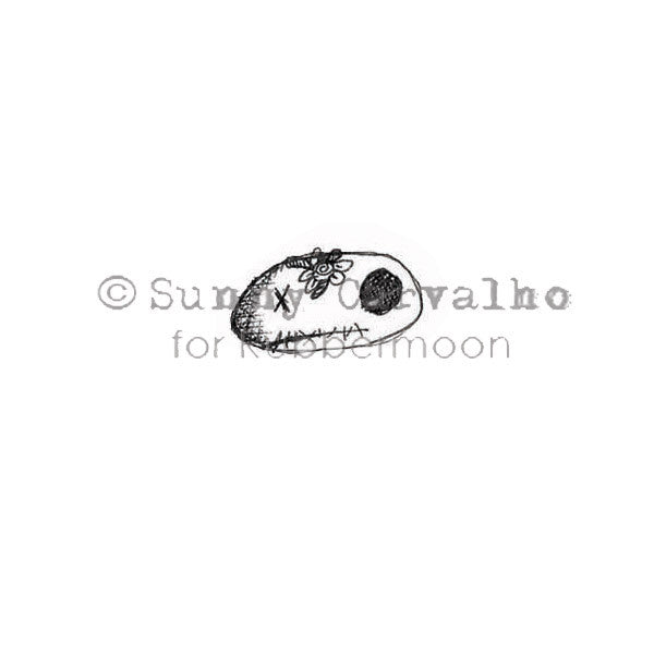 Sunny Carvalho | SC114AA - Teeny Scully - Rubber Art Stamp