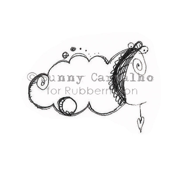 Sunny Carvalho | SC115D - Sunny/Cloudy - Rubber Art Stamp