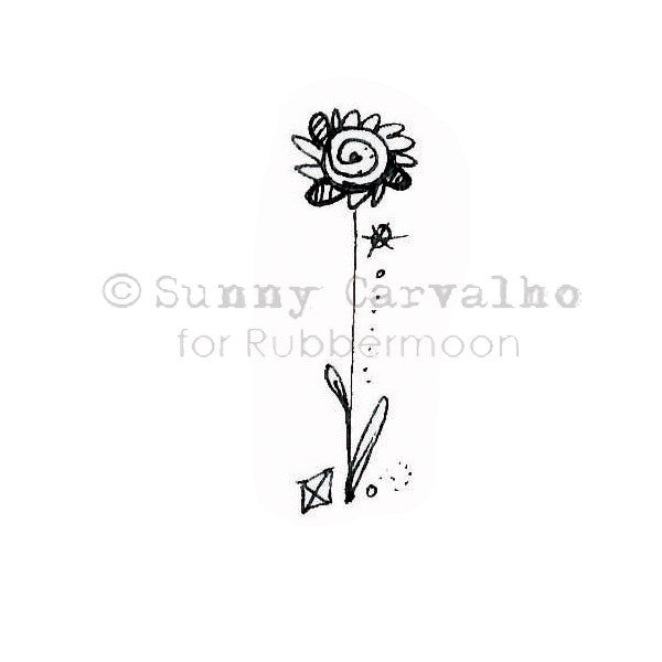 Sunny Carvalho | SC117C - Sunflower - Rubber Art Stamp