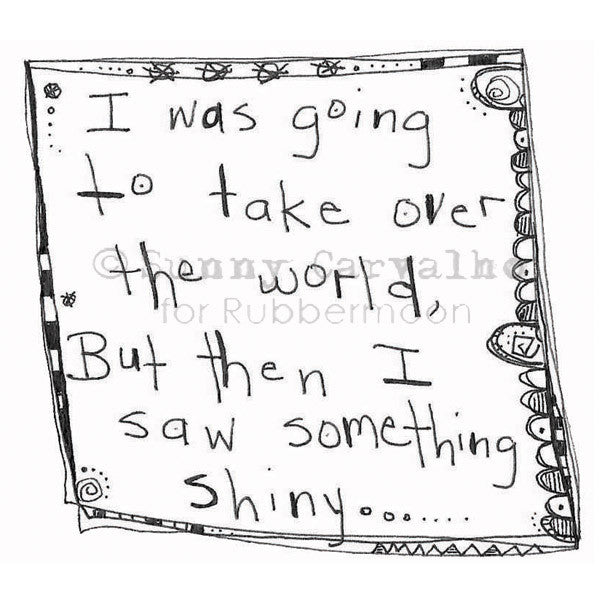 Sunny Carvalho | SC123I - Something Shiny - Rubber Art Stamp