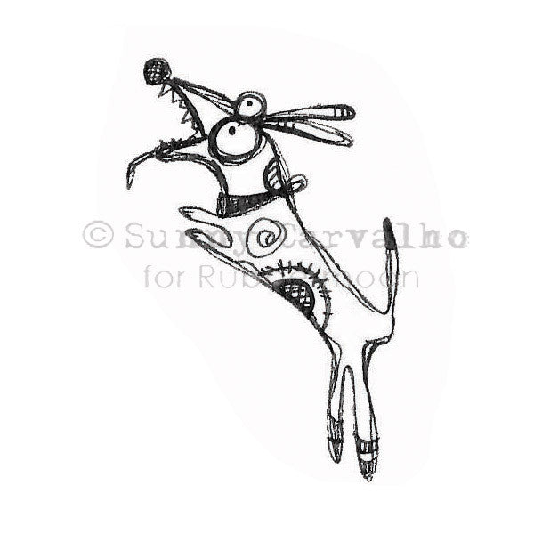 Sunny Carvalho | SC126E - Well Trained - Rubber Art Stamp