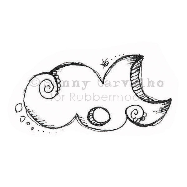 Sunny Carvalho | SC132E - Cloud Formation - Rubber Art Stamp