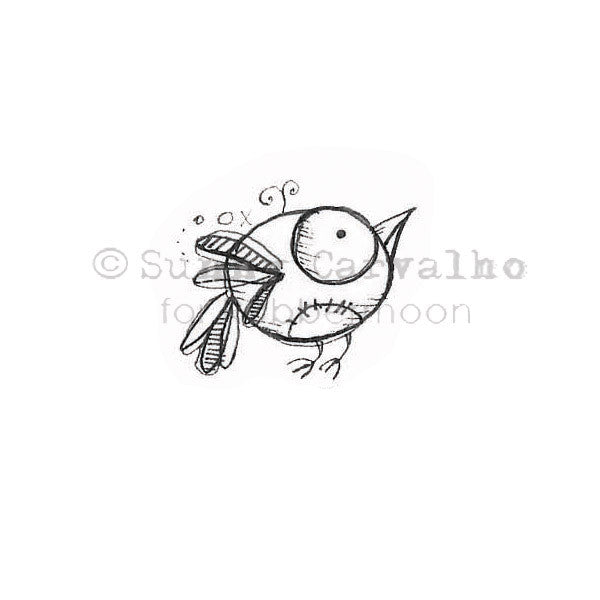 Sunny Carvalho | SC133B - Lucy Bird - Rubber Art Stamp