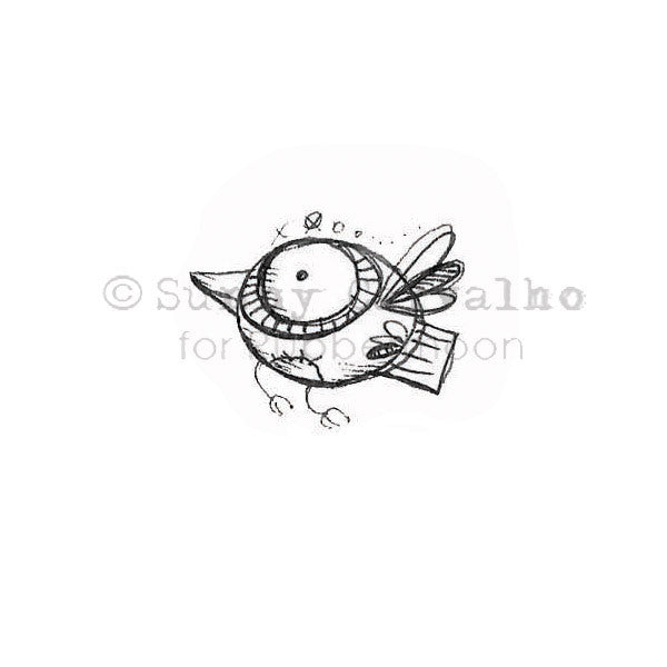 Sunny Carvalho | SC134B - Lucy Bird 2 - Rubber Art Stamp