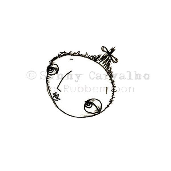 Sunny Carvalho | SC5223C - Pony Tail - Rubber Art Stamp