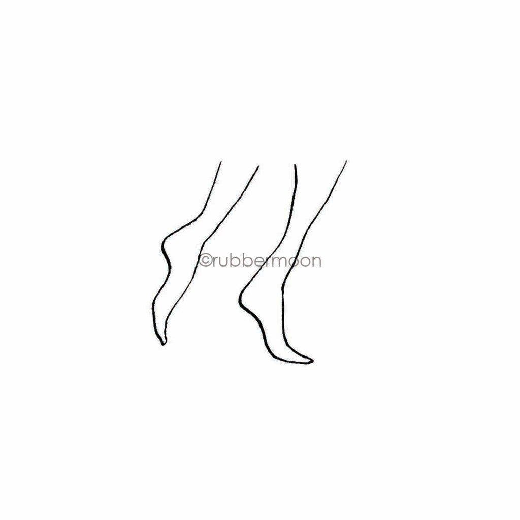 Sunny Carvalho | SC7789F - Stocking Feet - Rubber Art Stamp