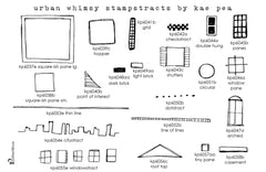 Kae Pea | KPUW22 | Urban Whimsy Stampstracts Complete Set
