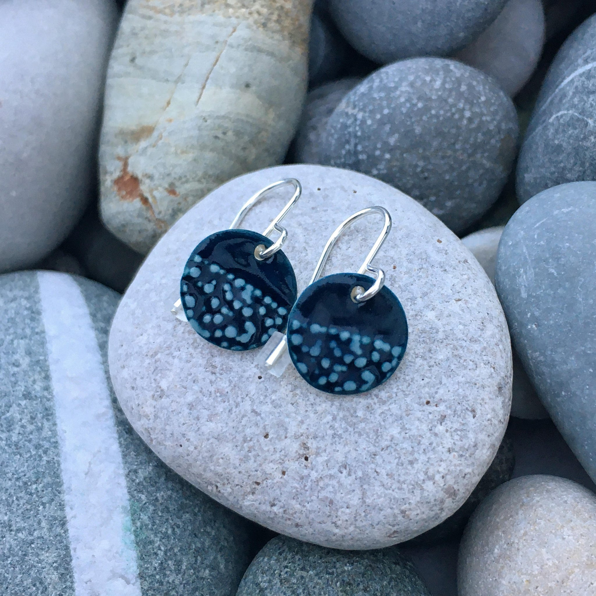 Origin Handmade Ceramic Earrings with Silver Hooks