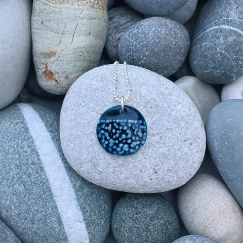 Origin. Handmade Ceramic Pendant with Silver Chain