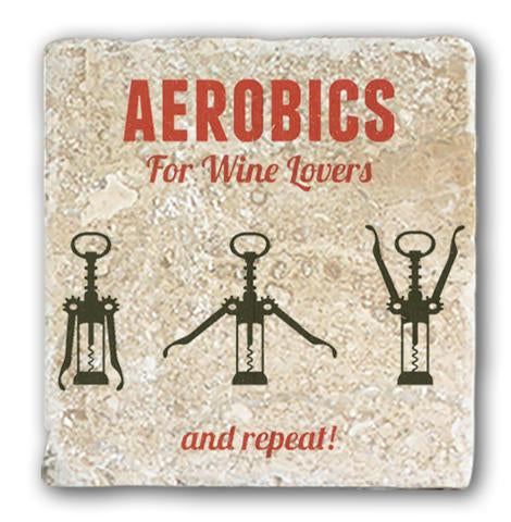 Marble Coaster - Aerobics For Wine Lovers
