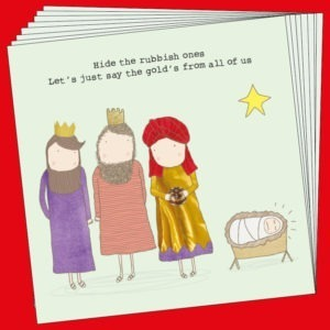 Gold Christmas Box.      Pack of 8 Cards