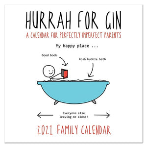 Hurrah for Gin Square Family Calendar