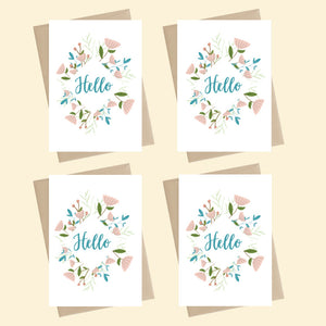 Mini Card Pack  Floribunda - Hello