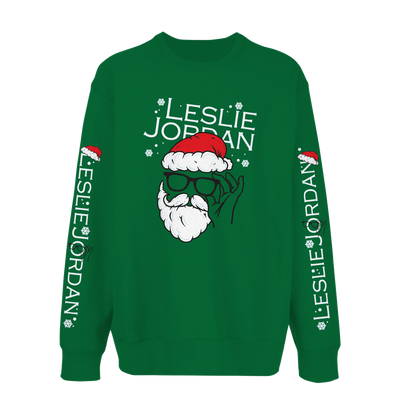 Leslie Jordan Clause Holiday Sweatshirt Green