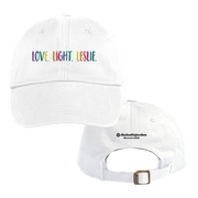 Rainbow LLL Hat - White