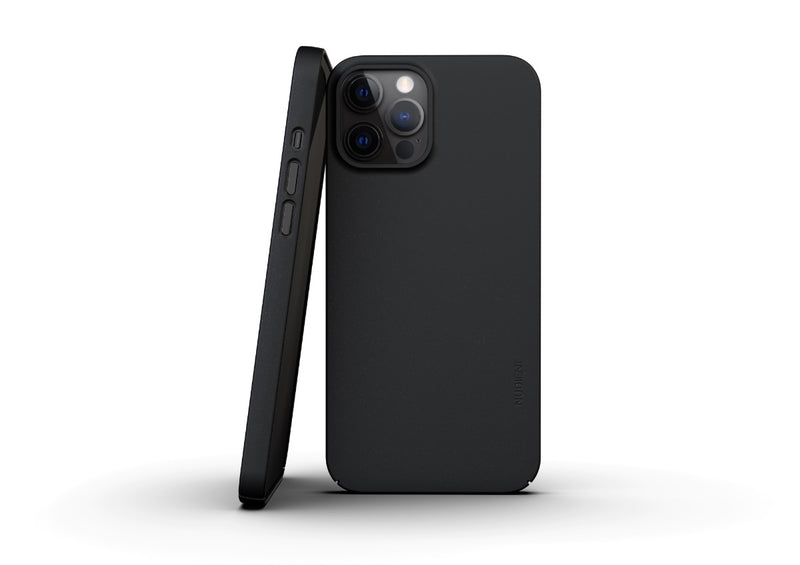 Nudient - Thin iPhone 12 Pro Max Case V3 - Ink Black