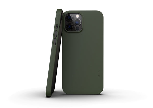 Nudient - Thin iPhone 12 Pro Max Case V3 - Pine Green
