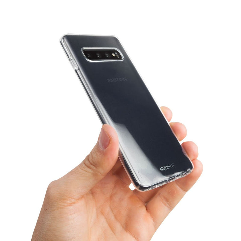 Thin glossy Samsung S10 case - 100% transparent