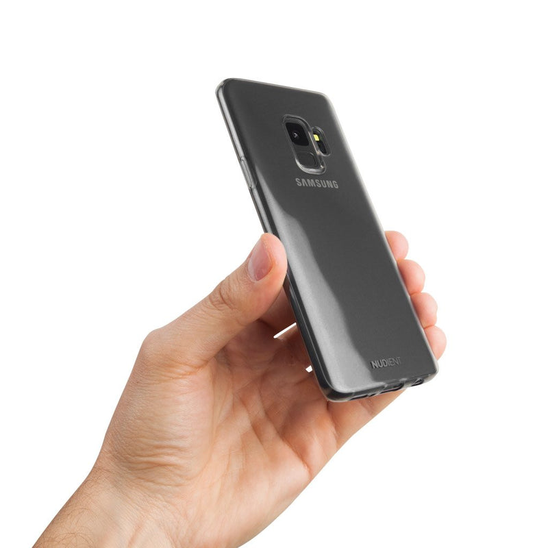 Thin glossy Samsung S9 case - Black transparent