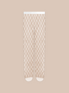 Stems large white fishnet tights with micro mesh toe