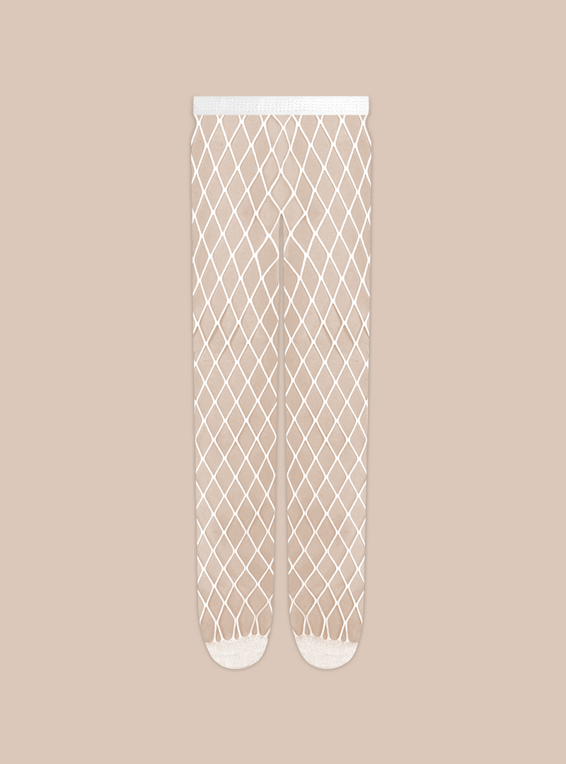 Stems white fishnet large