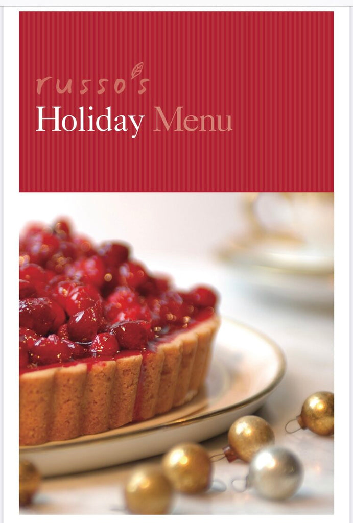 Our Holiday Menu is now available!