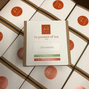 "Tea, Genmaicha tea ""in pursuit of tea"" Box of 12"