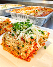 Load image into Gallery viewer, Prepared Half Pan Meals (feeds 10-12 people), Lasagna Bolognese (meat)