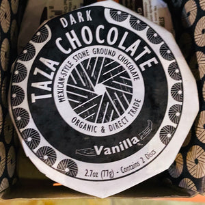 Chocolate, Taza Organic Chocolate, Vanilla, 2.7 oz